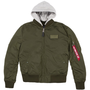 Alpha Industries Bunda  MA-1 TT Hood black camo S