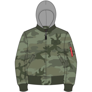 Alpha Industries Bunda  MA-1 TT Hood olivecamo XL