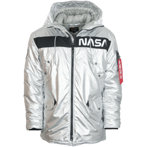 Alpha Industries Bunda  N-3B NASA stříbrná XXL