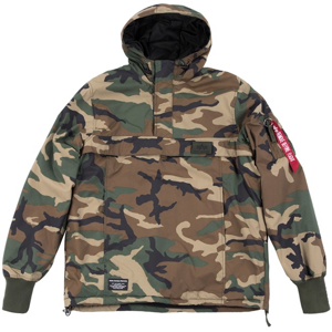 Alpha Industries Bunda  WP Anorak woodland camo 65 XL