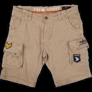 Alpha Industries Kalhoty krátké  Crew Short Patch pískové 34