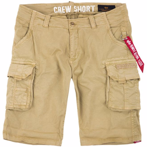 Alpha Industries Kalhoty krátké  Crew Short pískové 31