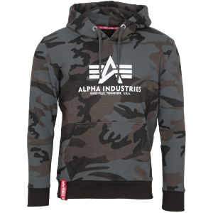 Alpha Industries Mikina  Basic Hoody blackcamo S