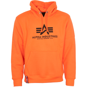 Alpha Industries Mikina  Basic Hoody neon orange XXL