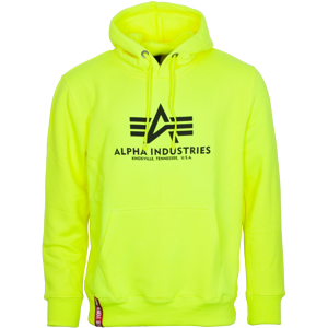 Alpha Industries Mikina  Basic Hoody neon yellow 3XL