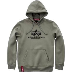 Alpha Industries Mikina  Basic Hoody olivová M
