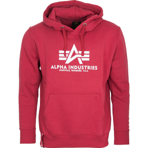 Alpha Industries Mikina  Basic Hoody rbf red S