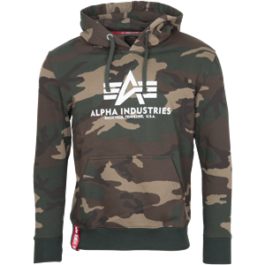 Alpha Industries Mikina  Basic Hoody woodland camo 65 XXL
