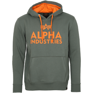 Alpha Industries Mikina  Foam Print Hoody vintage green S
