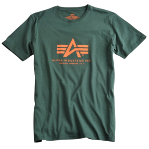 Alpha Industries Tričko  Basic T-Shirt petrolejové 5XL