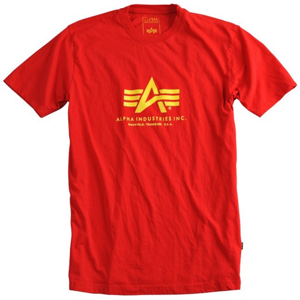Alpha Industries Tričko  Basic T-Shirt speed red M