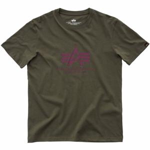 Alpha Industries Tričko  Basic T-Shirt zelená tmavě 3XL