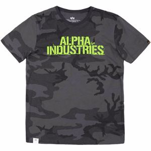 Alpha Industries Tričko  Blurred T blackcamo XXL