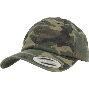 Brandit Čepice Baseball Cap Low Profile Camo Washed woodland