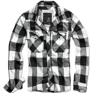 Brandit Košile Check Shirt černá | bílá XXL