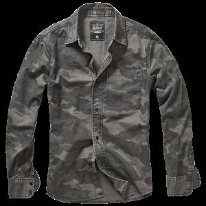 Brandit Košile Josh Shirt darkcamo 3XL