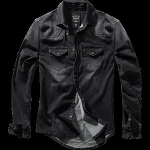 Brandit Košile Riley Denim Shirt černá L