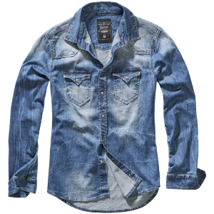 Brandit Košile Riley Denim Shirt denim blue 3XL