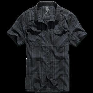 Brandit Košile Roadstar Shirt 1/2 černá | modrá 4XL