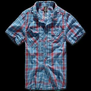 Brandit Košile Roadstar Shirt 1/2 červená | modrá XL