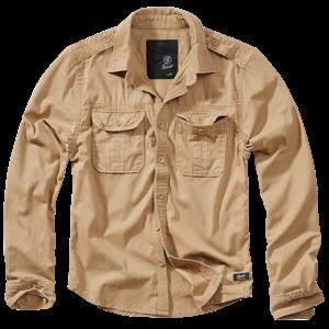 Brandit Košile Vintage Shirt Longsleeve camel 7XL