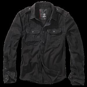 Brandit Košile Vintage Shirt Longsleeve 1/1 černá 7XL