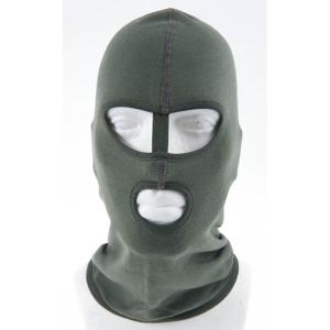 Kukla policejní P2 oči/dělicí pásek/ústa zelená