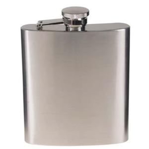 Likérka plochá 225 ml (8 oz) chrom stříbrná