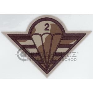 Nášivka: 2. brigáda paradesantní vz. 95 béžový