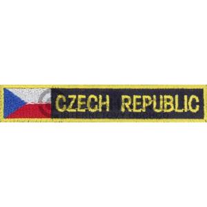 Nášivka: CZECH REPUBLIC - s vlajkou modrá tmavě | žlutá
