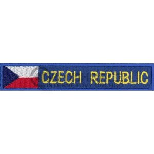 Nášivka: CZECH REPUBLIC - s vlajkou modrá | žlutá