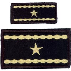 Nášivka: Hodnost AČR Brigádní generál černá malá
