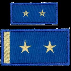 Nášivka: Hodnost AČR Podplukovník modrá světle malá