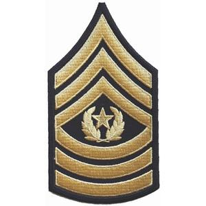 Nášivka: Hodnost US ARMY rukávová Command Sergeant Major černá | žlutá