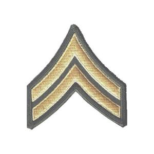 Nášivka: Hodnost US ARMY rukávová Corporal olivová | žlutá