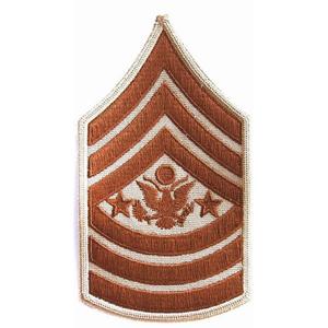 Nášivka: Hodnost US ARMY rukávová Sergeant Major of the Army béžová | hnědá