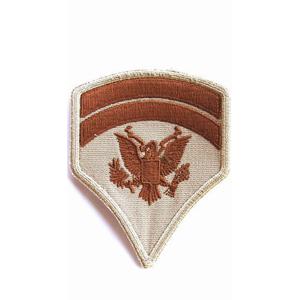 Nášivka: Hodnost US ARMY rukávová Specialist Sixth Class béžová | hnědá