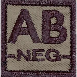 Nášivka: Krevní skupina AB NEG olivová | černá