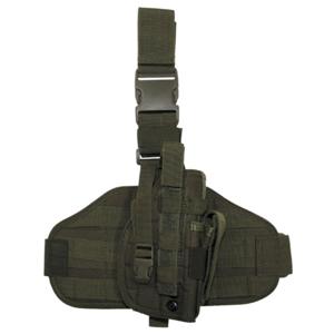 Pouzdro na zbraň - stehenní MOLLE zelené
