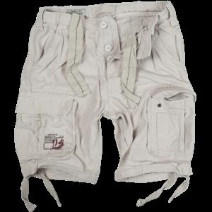 Surplus Kalhoty krátké Airborne Vintage Shorts bílá opraná M