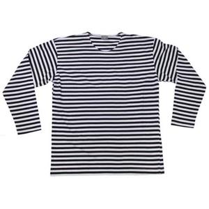 Tričko námořnické ruské letní s dl.rukávem MFH modro   bílé 4XL