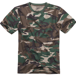 Tričko US T-Shirt BRANDIT woodland 3XL