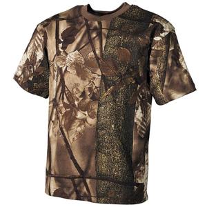 Tričko US T-Shirt lovecká camo hnědá L