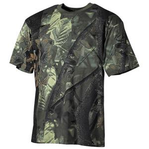 Tričko US T-Shirt lovecká camo zelená S