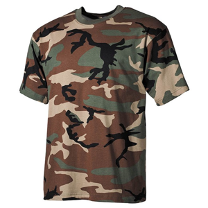 Tričko US T-Shirt woodland 3XL