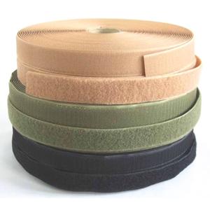 Uzávěr stuhový - suchý zip š. 25 mm - smyčky [10 cm] olivová